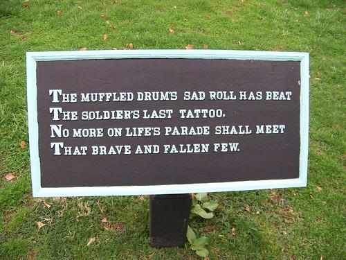 The muffled guns sad roll