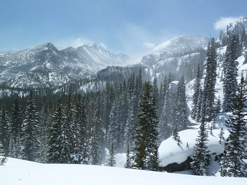Mountains near Nymph Lake at Rocky Mountain National Park