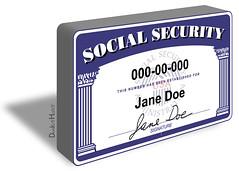 Social Security Card - Illustration
