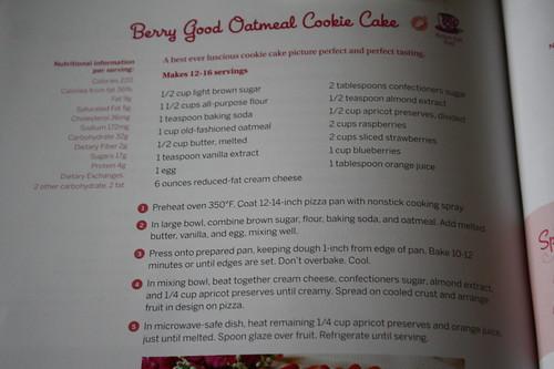 Berry Good Oatmeal Cookie cake recipe