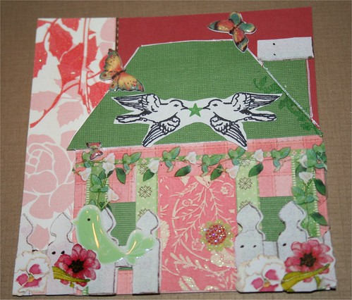 House with porch Collage Card