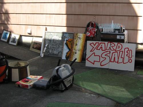 Back patio yard sale
