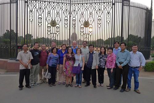 Outside the gates of the Rashtrapati Bhawan