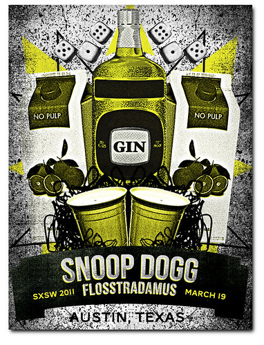 Snoop Dogg at SXSW 2011 Gigposter