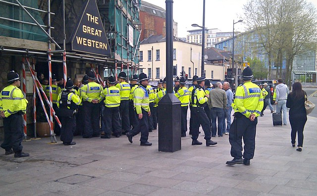 South Wales Police at The Great Western Pub