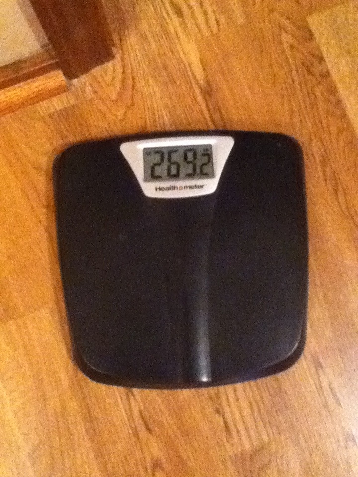 Weight after 24 hr fast.