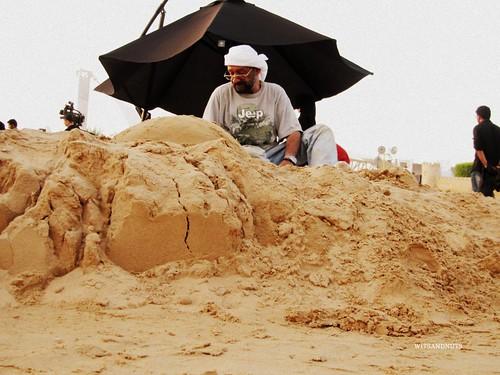 sand sculpture in progress