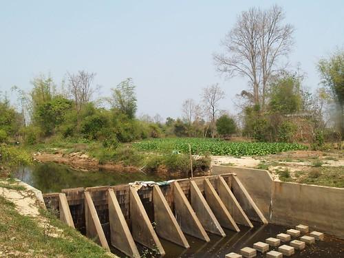 Village-built irrigation dam