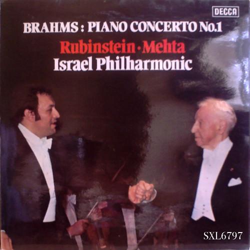 木質のピアノが心地良い☆ルービンシュタイン(ピアノ)、メータ指揮イスラエル・フィル、ブラームス:ピアノ協奏曲No.1 スモールラベル