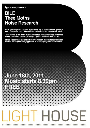 BiLE, Thee Moths, and Noise Research, Free, at Light House Wolverhampton, on the 18th of June