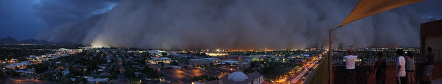 Phoenix Arizona Haboob Panorama 7/5/2011