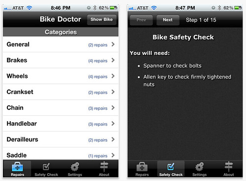 Bike Doctor iPhone App