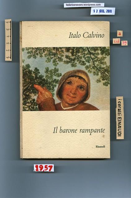 Italo Calvino, Il barone rampante. Einaudi 1957. Piatto anteriore