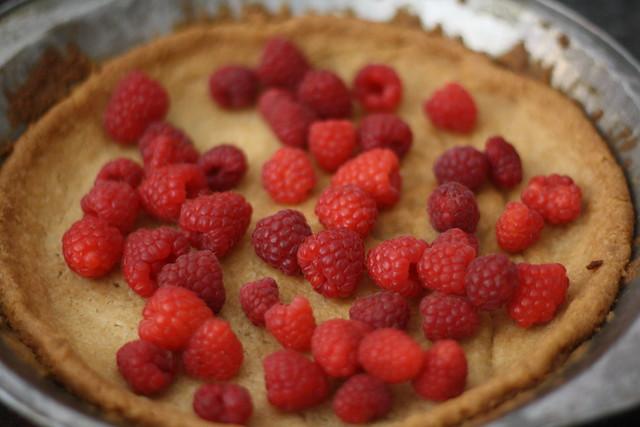 filling the pie crust