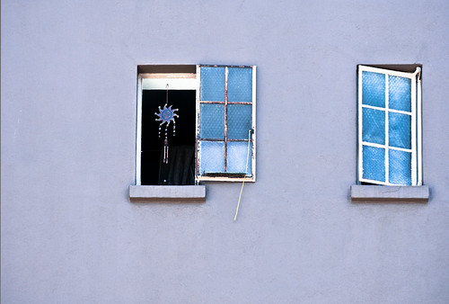 Blue Windows Play on Lavendar Wall