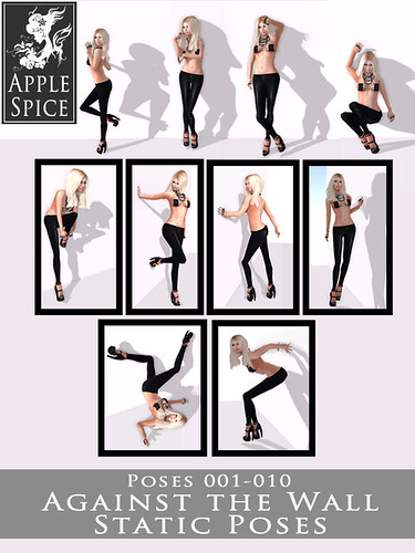 Apple Spice - Against the Wall Static Poses 001-010