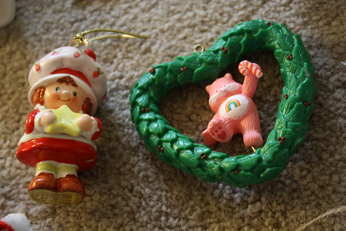 Strawberry shortcake and Care bear ornaments