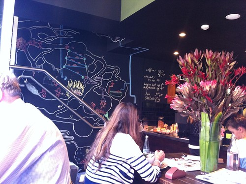 blackboard wall - little queen cafe, chippendale