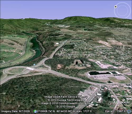 Google Earth - View From Angel's Rest