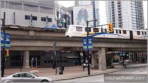 Skytrain near Rogers Arena