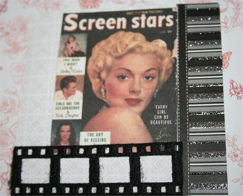 "Screen Stars (Lana Turner) 4"" x 4"" Collage Card"