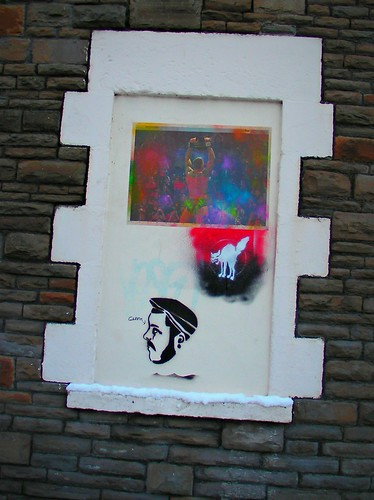 Wintry graffiti in Roath, Cardiff.