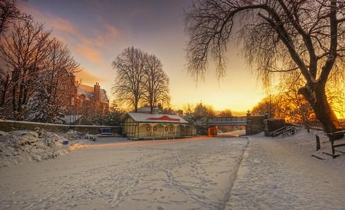 Ashley Boathouse Winter Sunset