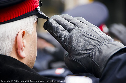Ryan Russell Funeral Procession: Salute Glove