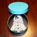 Mosaic Christmas Bell Snowman