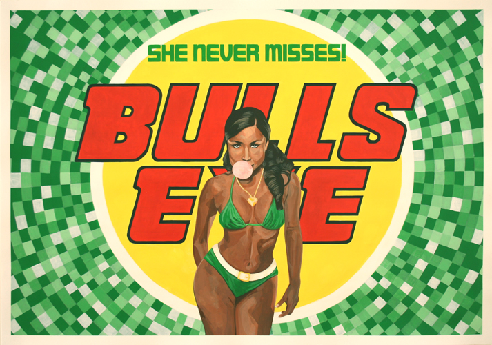 Bulls Eye, Acrylic on Paper, 100cm x 70cm by Robin Clare
