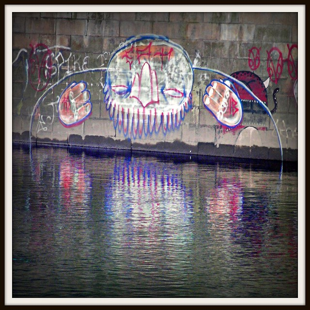 Graffiti around Cardiff.