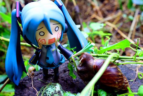 Miku vs Snail by Marco K