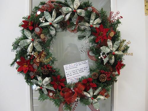 Dollar wreath