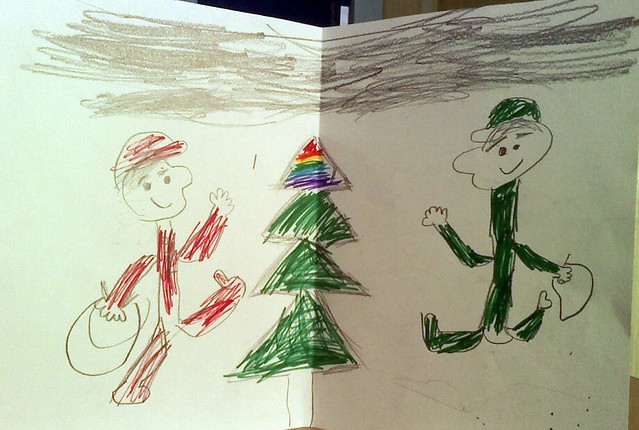 A Christmas picture from a 3rd grader