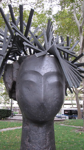 Manolo Valdes, Dama II, 2003, Dante Park at 63rd Street, Broadway, and Columbus Avenue