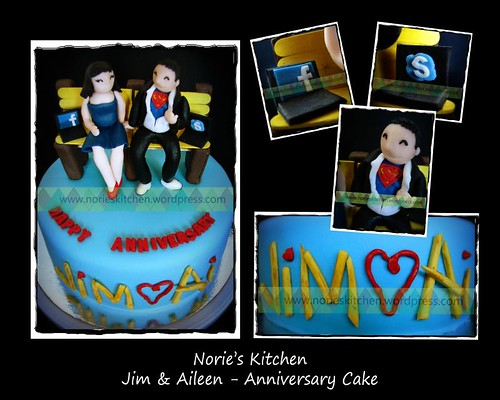 Norie's Kitchen - Anniversary Cake for Jim and Aileen