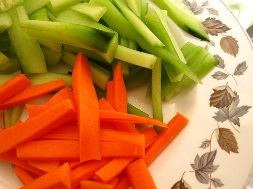 carrots and cucumber