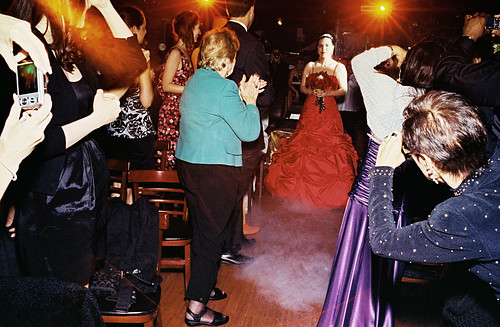 …there's me tripping down the aisle