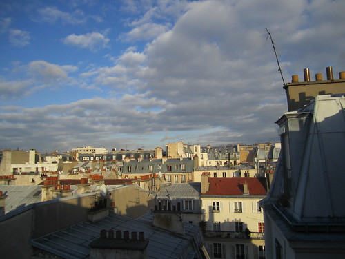 Parisian Afternoon Sky and Rooftops