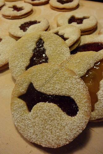 Sablés de Noël à la confiture / JAm Christmas Cookies