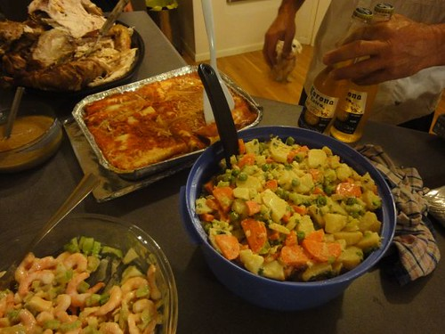 Salads and cannelloni