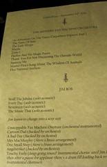 MFMO Dingwalls set list