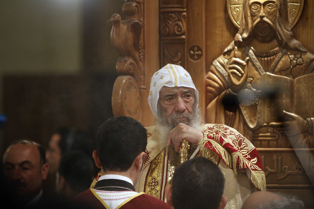 Pope Shenuda III Leads Coptic Christmas Mass