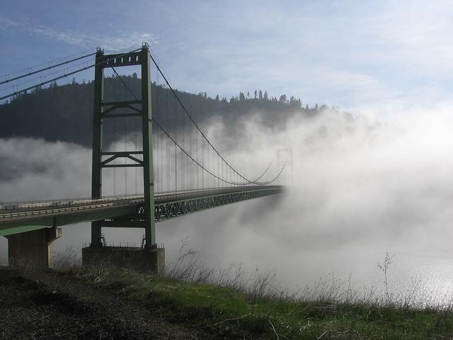 A bridge near Lake Oroville