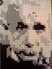 Albert Einstein LEGO mosaic
