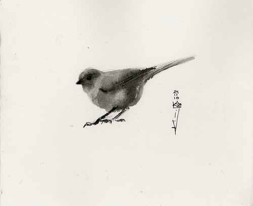 Bushtit birthday card