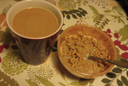 coffee and Banana Nut cheerios