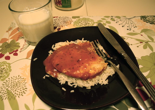 Gardein tuscan breast, rice, milk