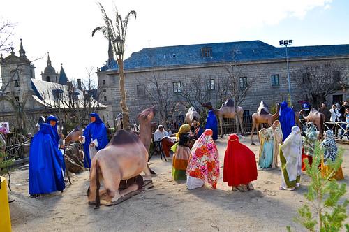 Figuras gigantes del Belén de El Escorial en Navidades 2010/2011