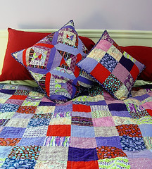Liv's quilt and pillows